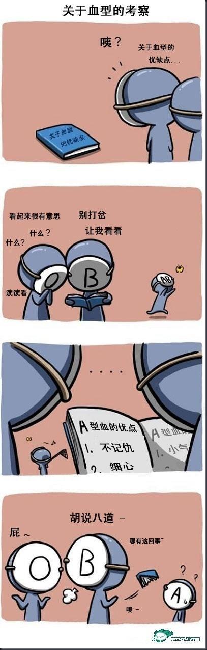 可爱的血型漫画_问号_新浪博客